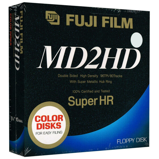 5,25 Disketten HD Fuji Film Super HR color (weiß)