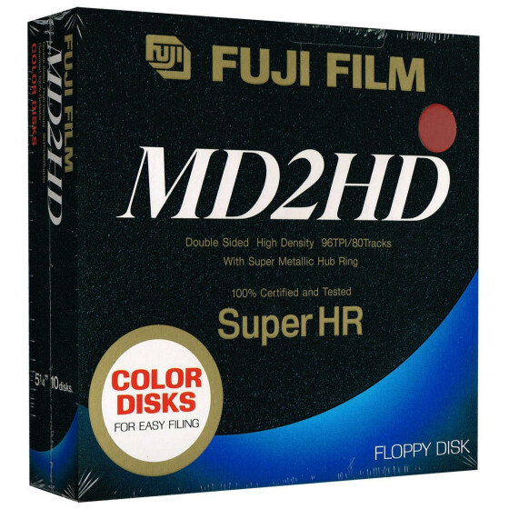 5,25 Disketten HD Fuji Film Super HR color (rot)