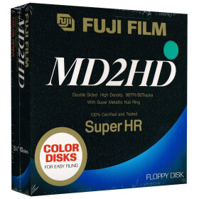 5,25 Disketten HD Fuji Film Super HR color (grün)