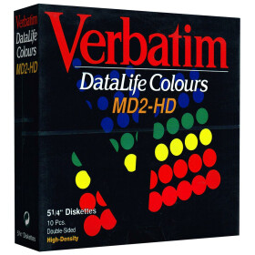 5,25 Disketten HD Verbatim DataLife Colours