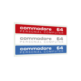 Label Commodore 64 C - Kickstarter-Farben