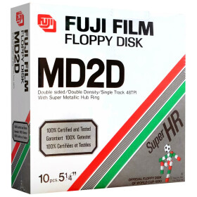 5,25 Disketten DD Fuji Film MD2D Super HR