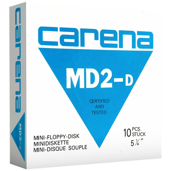 5,25 Disketten MD2-D Carena