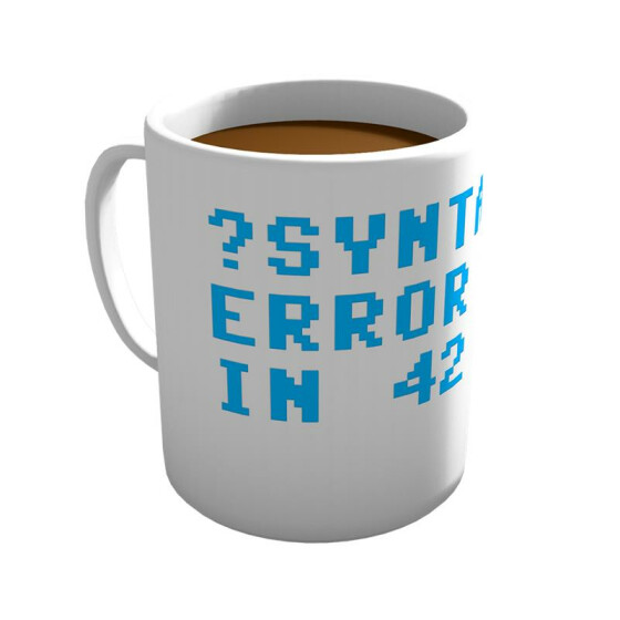 Syntax Error In 42 - Tasse