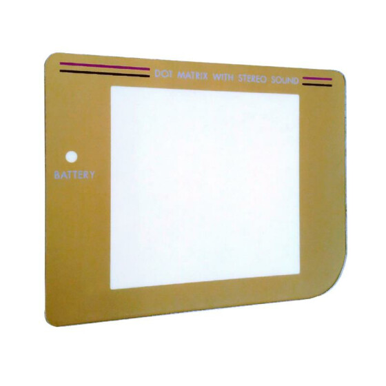 Golden display protective plastic screen