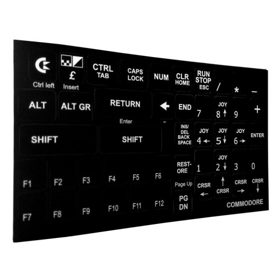 Commodore Keyboard Sticker (black)