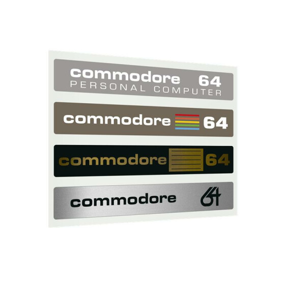 Label Commodore 64 C - History-Set