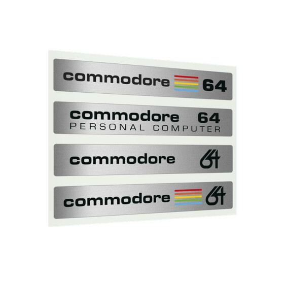 Label Commodore 64 C - Silberlabel-Set