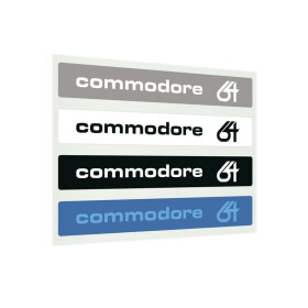 Label Commodore 64 C - Farbset 64-Glyphe